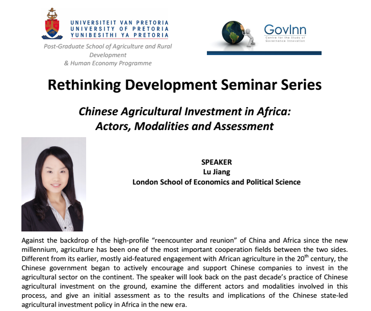 Rethinking development Seminar 27 January 2015