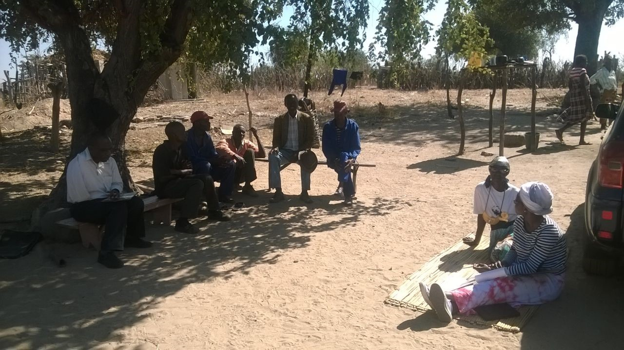 Ruth Murambadoro undertaking fieldwork in Zimbabwe