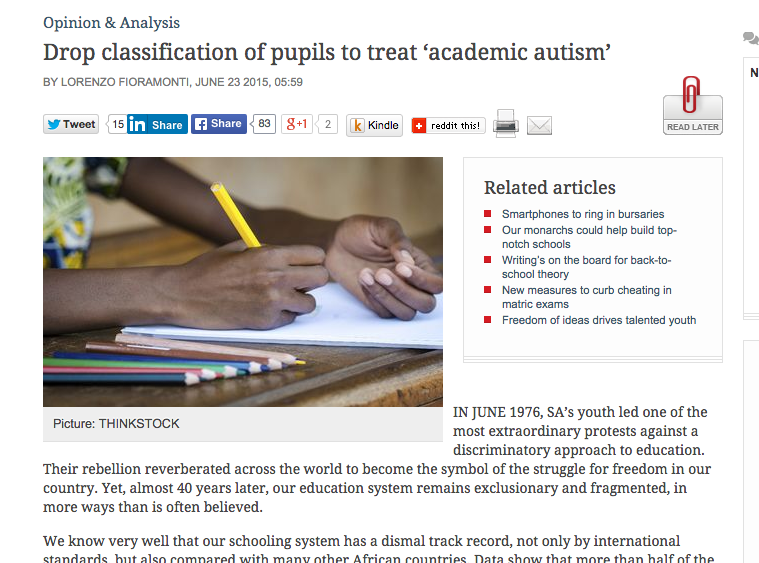 Drop classification of pupils to treat 'academic autism'