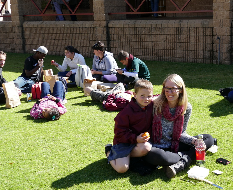 Junior researchers Amy Gilliam, Kirsty Agnew and Koen Dekeyser organised the Mandela Day at GovInn