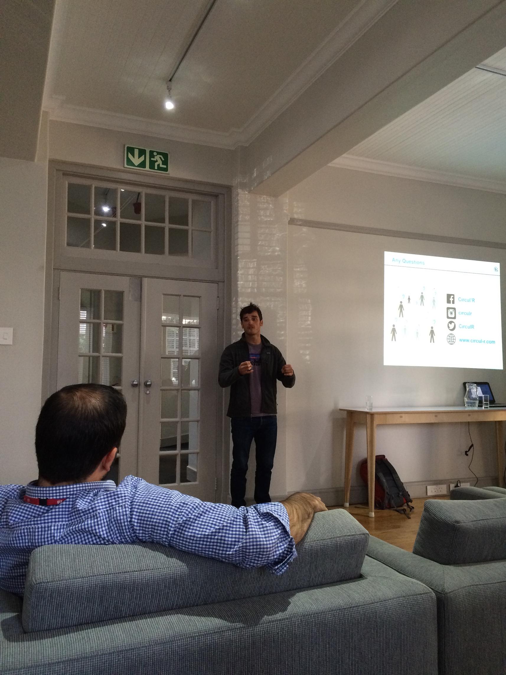 Jules Coignard discussing the circular economy.