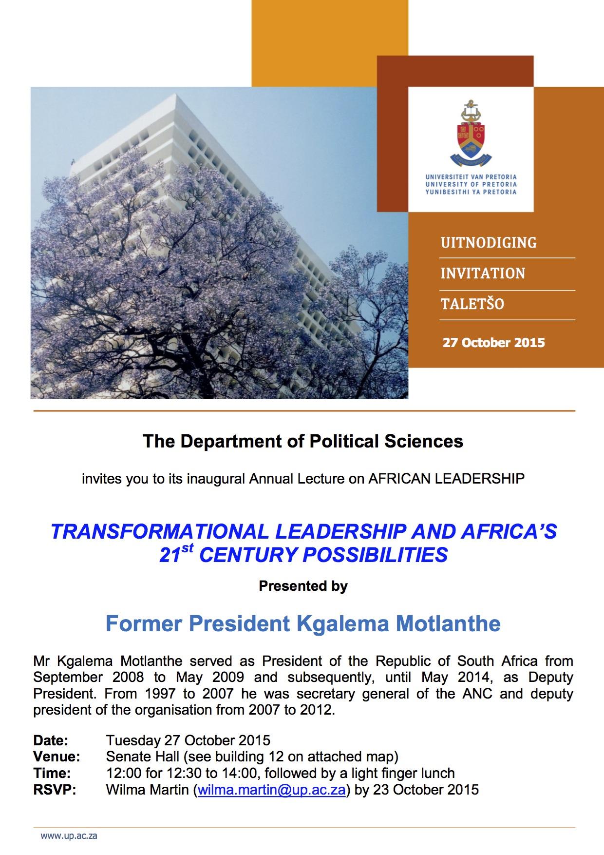 Kgalema Motlanthe Presentation