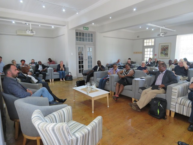 Attentive listening during Dr Khoza's keynote address