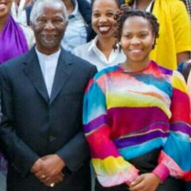 Dikeledi Mokoena and former President Thabo Mbeki