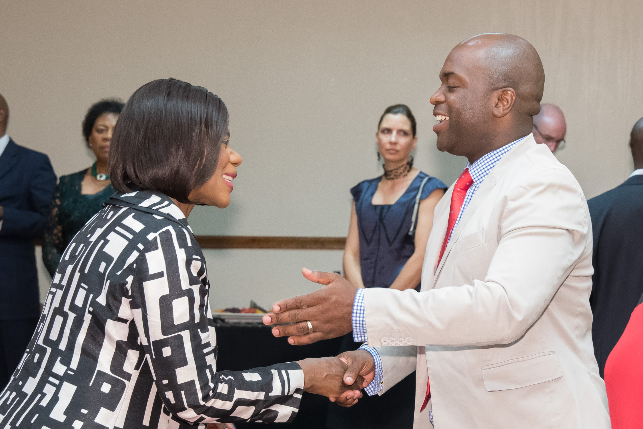 Advocate Thuli Madonsela and Mayor Solly Msimanga