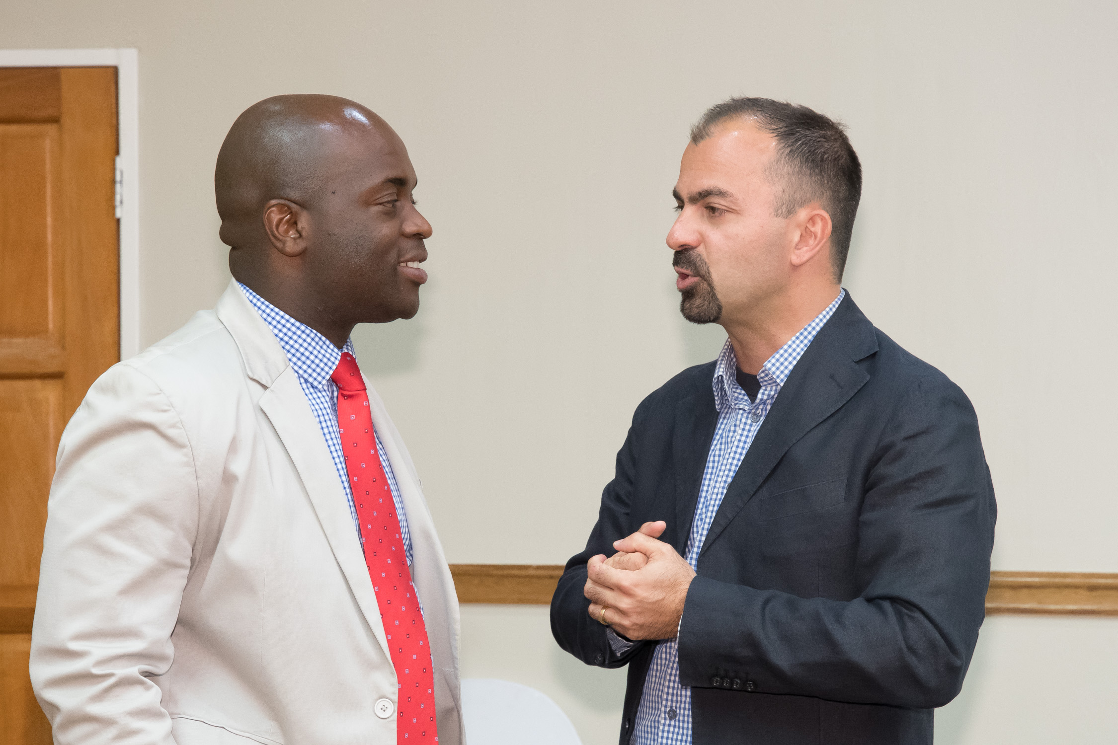 Prof Lorenzo Fioramonti and Mayor Msimanga