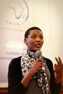Sithembile Mbete speaking at the Annual SAIIA-KAS International Careers Evening in 2013