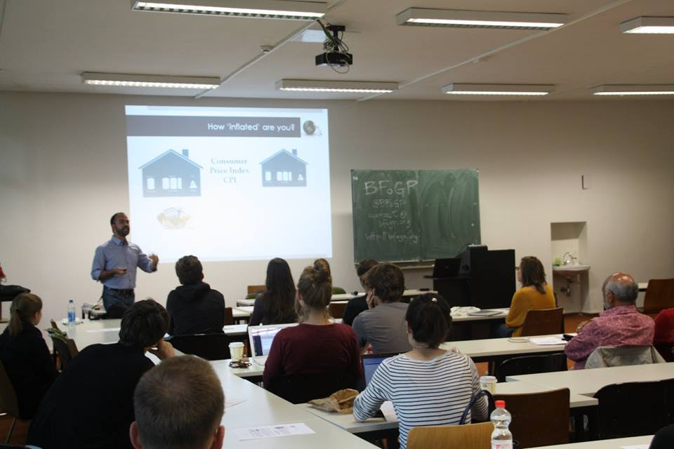 Lorenzo Fioramonti at the Free University in Berlin