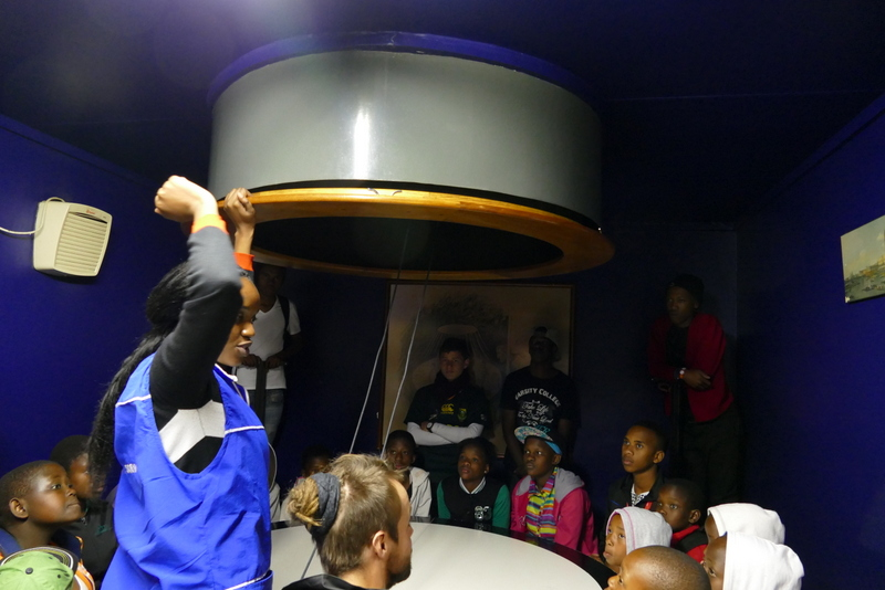 We were as surprised at our guests to discover the University's Camera Obscura...