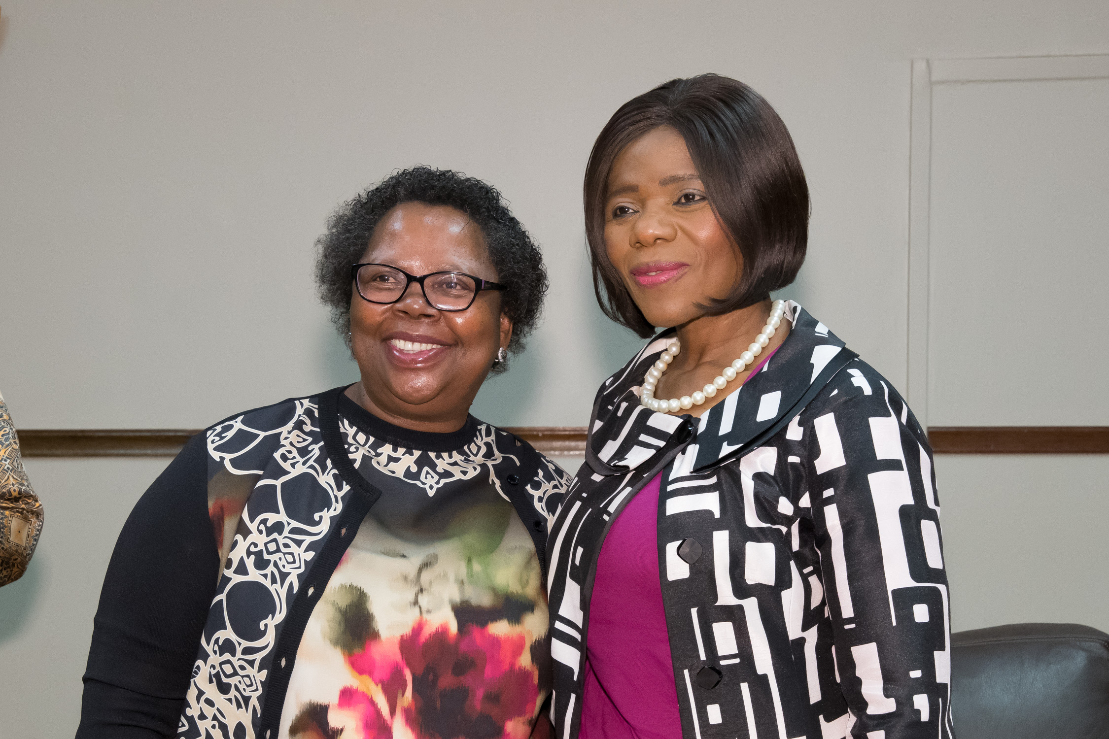 Gloria Serobe and Adv Madonsela